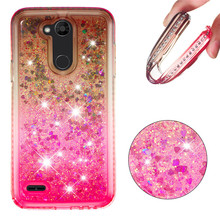 купить X Power 3 Glitter Silicone Case For LG X Power3 Coque Shinning Quicksand Liquid Soft TPU Back Cover for LG XPower 3 V7 2018 дешево