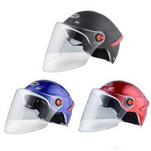 Helmet Motorcycle Electric Vehicle Transparent Anti-fog Ventilated Sunscreen Unisex Safety Protection Accessories