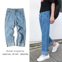 Новинка весны 2019 года мотобрюки джинсы для женщин для мужчин Уличная Высокая талия Повседневная одежда хлопок