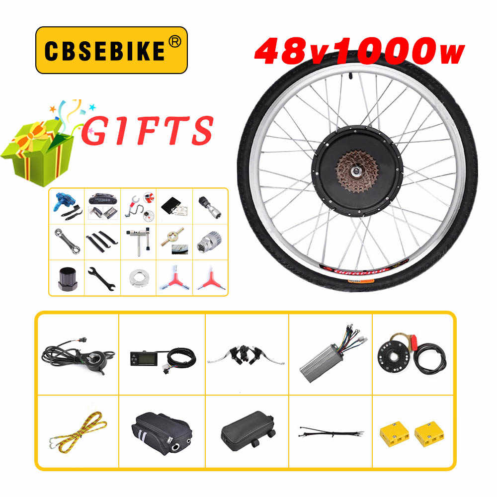"CBSEBIKE 48V 1000W rear Electric Bike Kit for 20"" 26"" 28"" 700C 29inch Wheel Motor LCD Ebike e bike   Conversion"