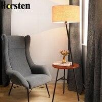 Nordic Wood Floor Lamps Racks Solid Wooden Standing Lights for Living Room Study Bedroom Bedside Sofa Table Lighting Home Decor
