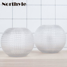 Round theme glass vase for wedding decoration terrarium home flower pot marriage
