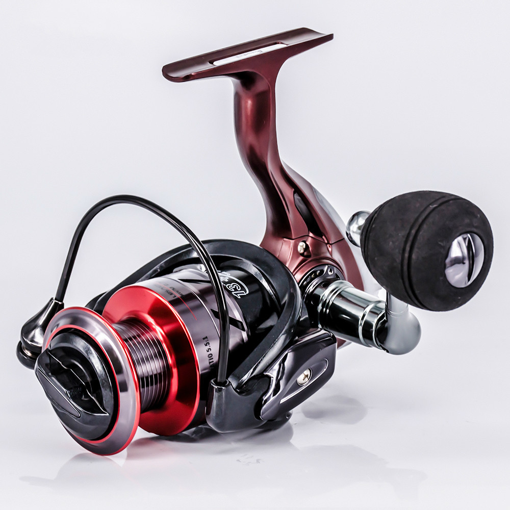 HOT High Quality 13+1bb Metal Spool Spinning Reel 5.5:1Bait Folding Rocker Spinning Wheel Fishing Reel Carpa Molinete De Pesca
