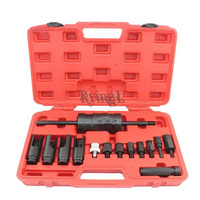 YG 14 pcs Injection Puller Extractor Kit Tool For Bosch Delphi Deso Siemens Diesel Injector Remover Common Rail Adaptor