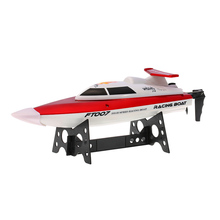 RC Toys FT007 2.4GHz 4CH 20km/h High Speed Racing Boats Electronic Radio Control RC Boat Ship Water Speedboat with Transmitter