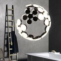 Современный минималистский светодио дный LED люстра Nordic гостиная/ресторан/отель/кафе/бар акрил алюминий сплав необычная люстра