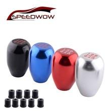 SPEEDWOW Universal Aluminium Racing MT 5 Speed Car Gear Shift Knob Manual Replacement Shifter Lever JDM