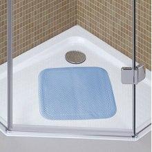 TPE Square Shower Stall Bath Tub Mat Suction Cup Non Skid Back 21x21(54cm*54cm) Bathrrom Anti-slip Rug