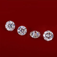 Bague boucle d'oreille diamant, 0.54 carat, 5.2mm, couleur EF, 3ex, excellente bague ronde brillante, moissanite VVS, offre spéciale