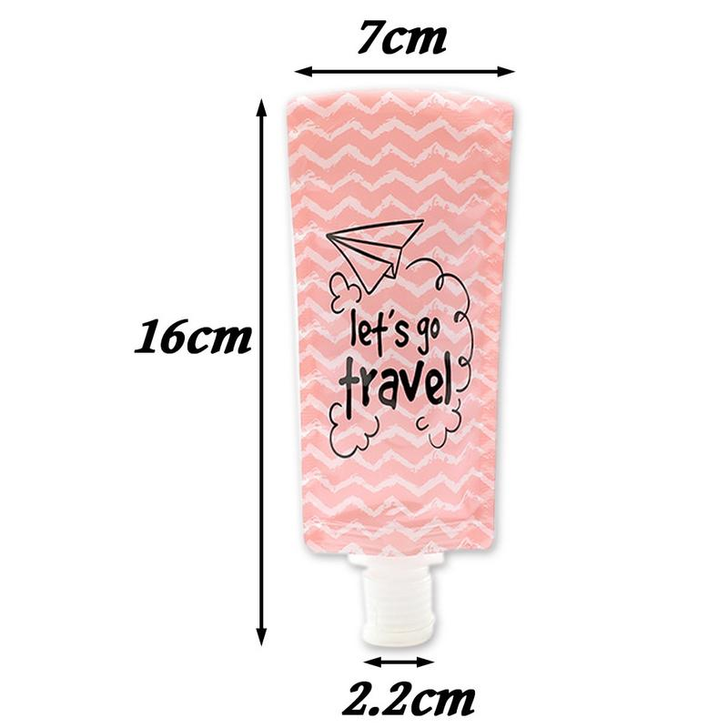 Image 2 - Squeeze Makeup Container Lotion Separating Storage Bag Portable Shower Gel Shampoo Bottle Face Washing Lotion Storage Bags-in Bags & Baskets from Home & Garden