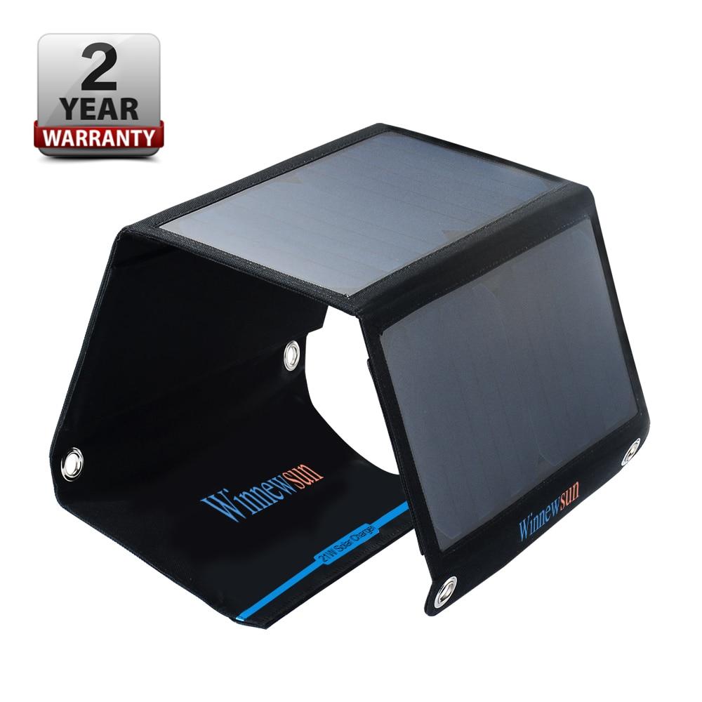 Panneau Solaire Powerbank Flexible Panneau Solaire panneaux cellules pliantes 21 w chargeur 5 v Usb sortie dispositifs Portable avec support