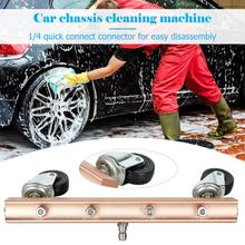 High Pressure Washer Car Under Body Chassis Power Washing Machine 4 Spray Nozzle Cleaner Kit for 1/4 Connector