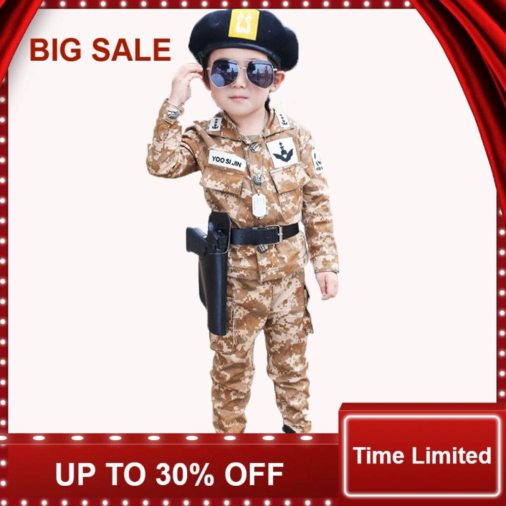 ChildrenS Spring Autumn Korean Clothing Sets Boys 5 Pcs/set Cotton Camouflage Army Suits