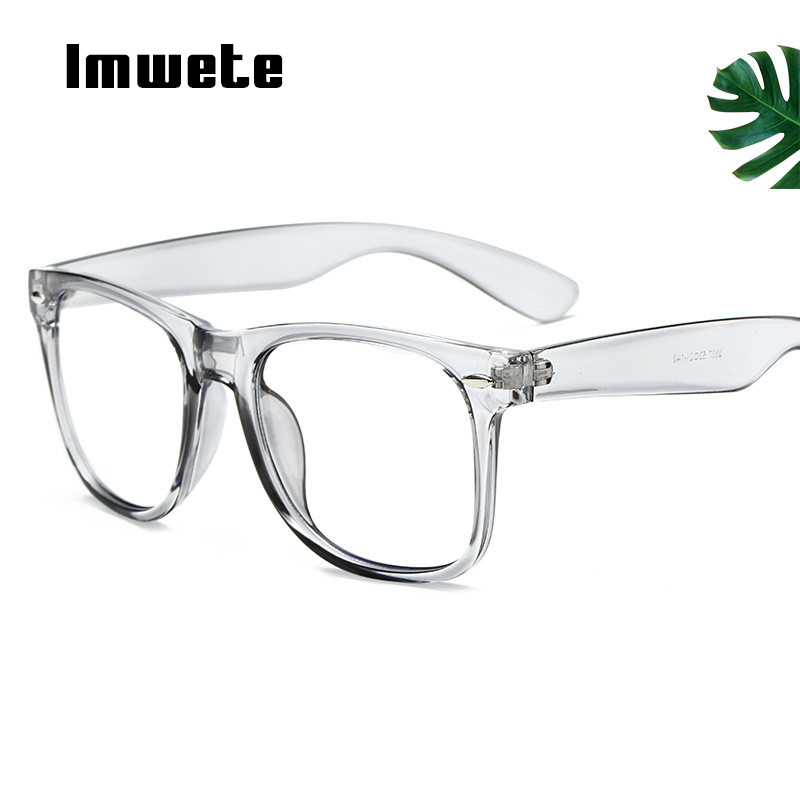 Imwete Classic Men Anti Blue Light Glasses Frame Women Clear Lens Eyeglasses Frames Ladies Candy Color Optical Spectacle Frame