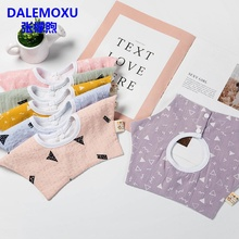 DALEMOXU Child Bib Cotton Baby Eating Clothes Breastplate Feeding Care Boy Girl Scarf Bandana Kid Aprons for Babies