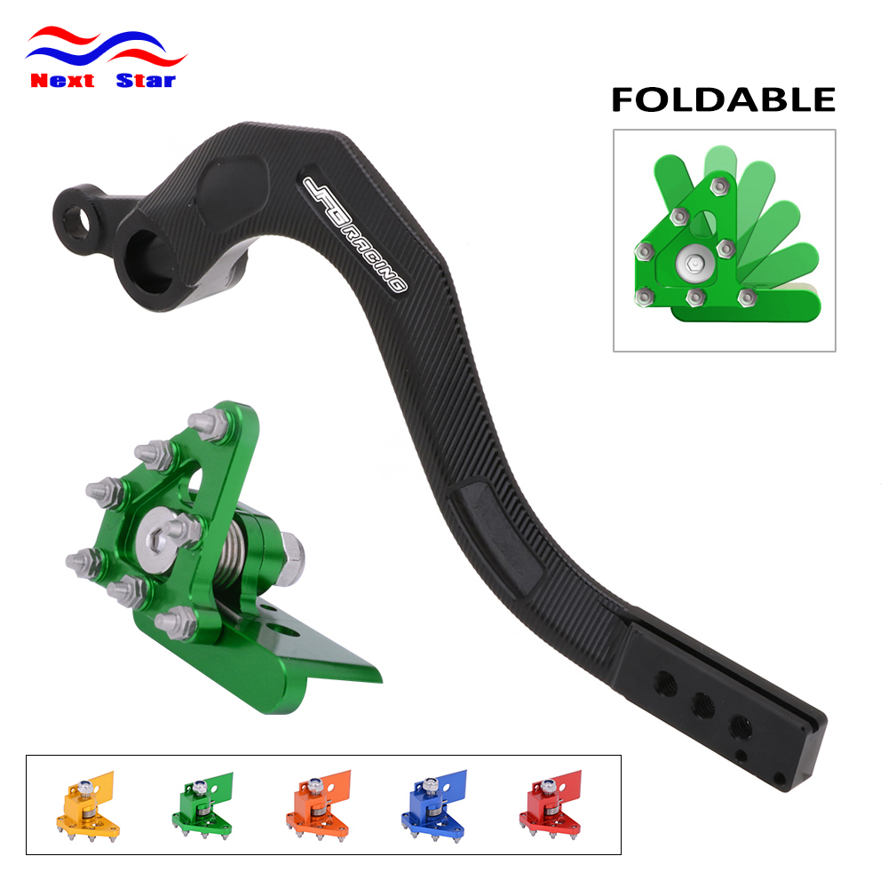 CNC Green Motorcycle Rear Foot Brake Pedal Lever For Kawasaki KX250F 2006-2018 KX250 2019
