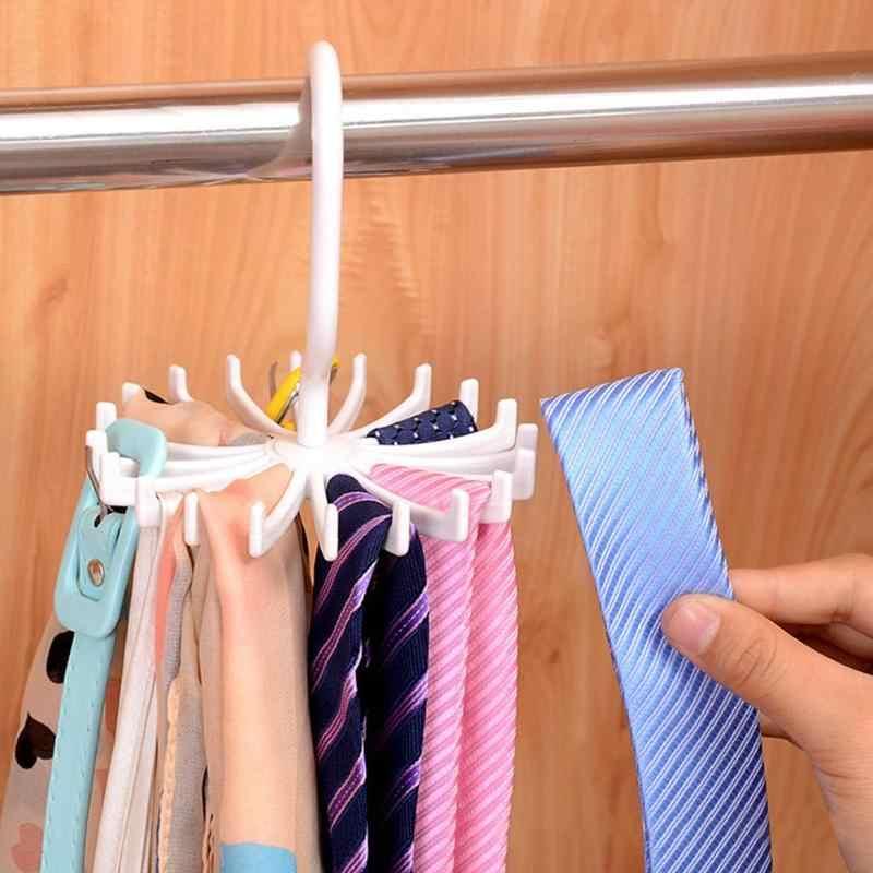 Plastikowa opaska Rack 20 wieszak na krawaty obrotowy hak pasy szaliki uchwyt do na ubrania haczyk na organizer przechowywanie w domu dostaw