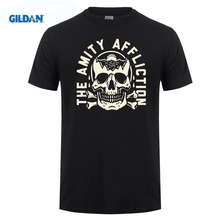 GILDAN The Amity Afflictions Band Tour Top Thai Quality Mans Black Ali Shirt No Buckle Pure Tee Shirts Size Hop Cotton Simple цена
