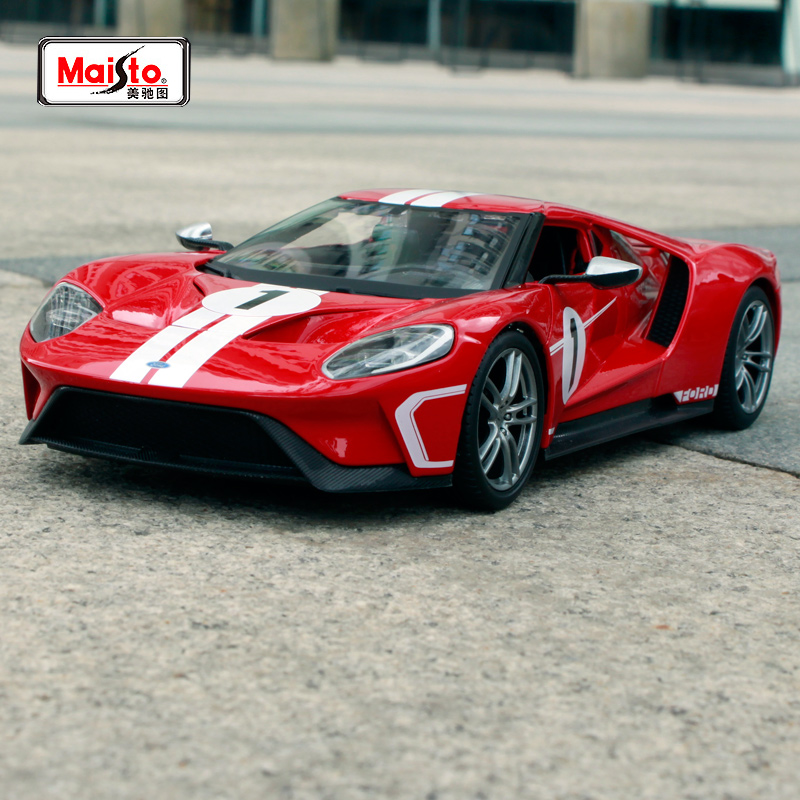 Maisto 1:18 2017 Ford GT Sports Car Diecast Model Car Toy