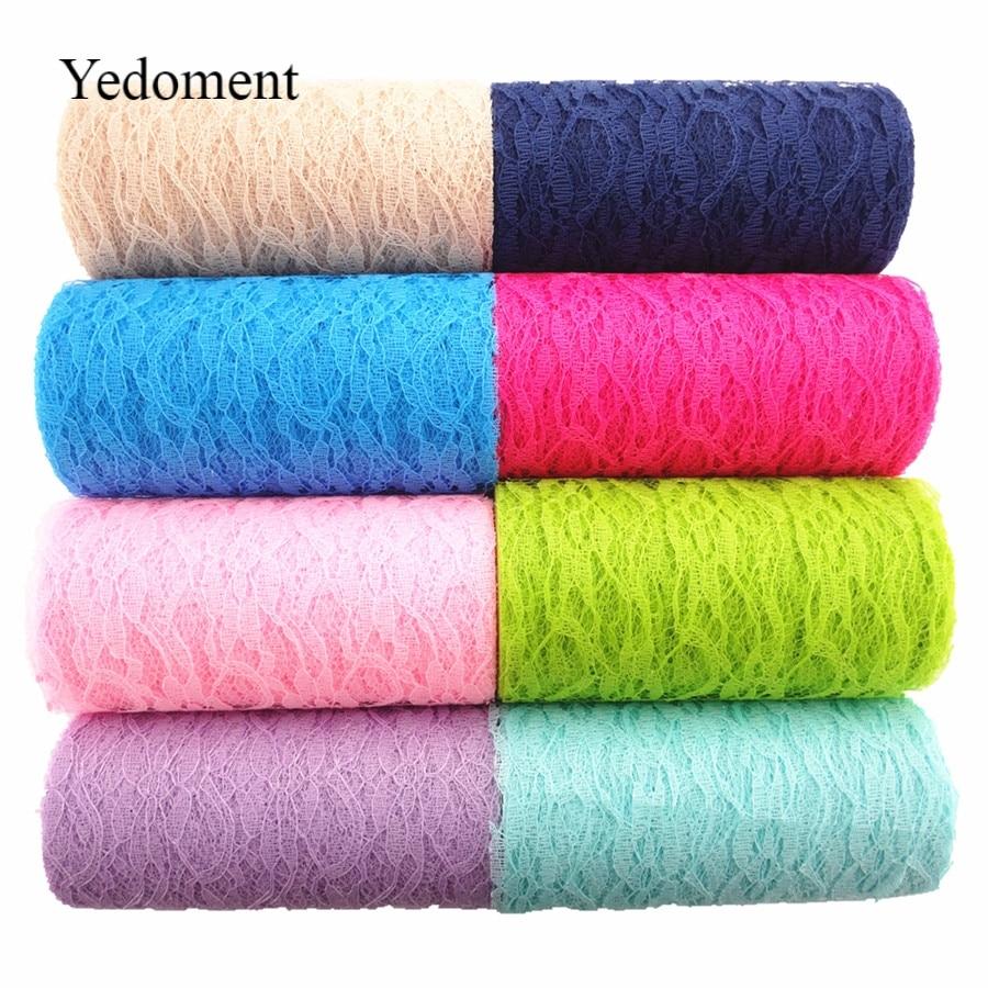 "10Yards/roll 6"" 15cm Wedding Decoration Lace Roll Fabric Spool Craft Tulle Tutu Dress DIY Organza Baby Shower Party Supplies"