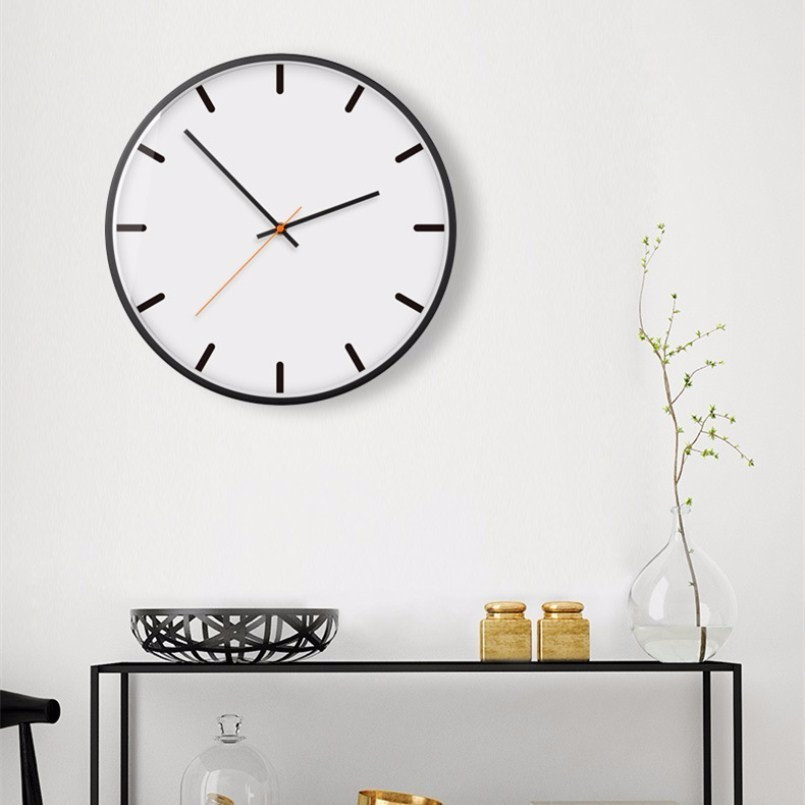 New 3D Wall Clock Quartz  Circular Duvar Saati 30cm 35cm Silent Movement Modern Design Brief Large Size