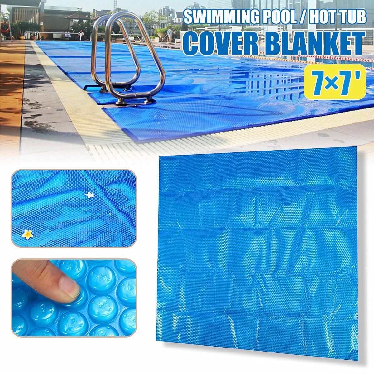 210x210 cm Carré Piscine jacuzzi Couverture Couverture pour Piscine Antipoussière étanche À La Pluie Et Parasol Couvercle à la Natation piscine