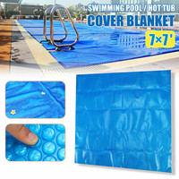 210x210cm Square Swimming Pool Hot Tub Cover Blanket for Swimming Pool Dustproof Rainproof And Sunshade Lid to Swimming Pool