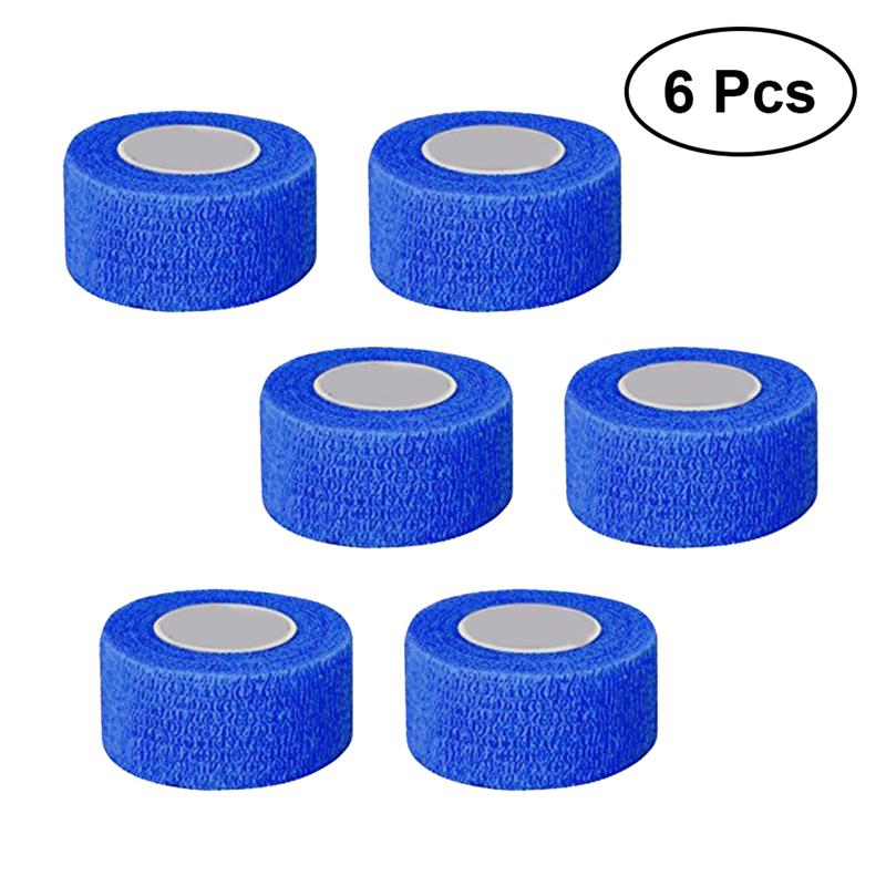 6pcs Cohesive Bandages Elastic Strong Nonwovens Bandage Wrap Self Adherent Wrap First Aid Tape For Sports Athletic Hunting