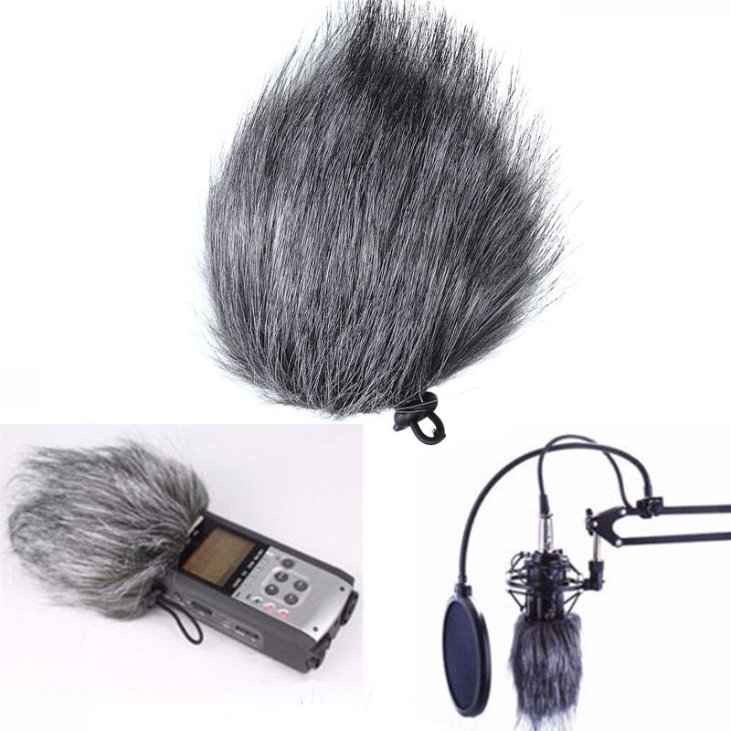 1 pcs / 5 pcs Microphone Cover Artificial Fur Wind Noise Reducing MIC Windscreen Windshield For Audio Microphone For Zoom H1 H4N