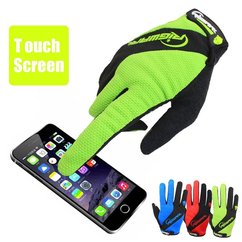 RIGWARL Touchscreen Mannen Outdoor Handschoenen Fiets Mtb Handschoenen Warm EVA Gewatteerde Anti-slippen Handschoenen Luvas de ciclismo