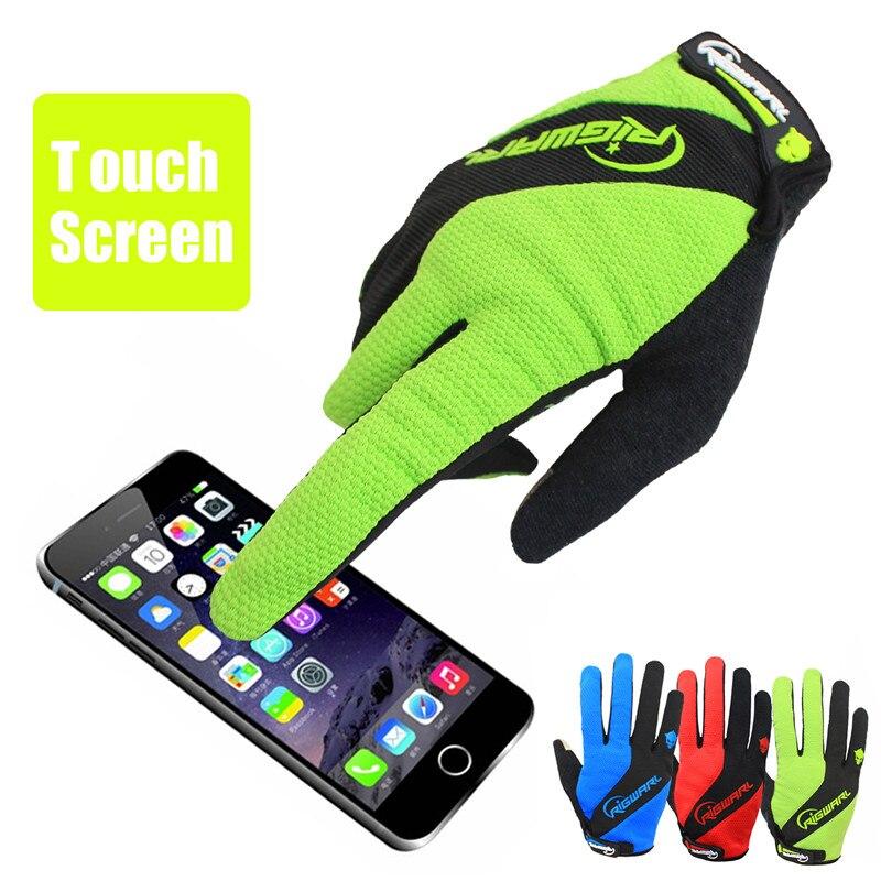 RIGWARL Touchscreen Herren Outdoor Fahrradhandschuhe MTB Fahrradhandschuhe Warm EVA Gepolsterte Anti-Rutsch-Handschuhe Luvas de ciclismo