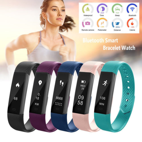 Smart Activity Tracker Watch Fit Bracelet Wristband Watch for Kids Men Women Bit