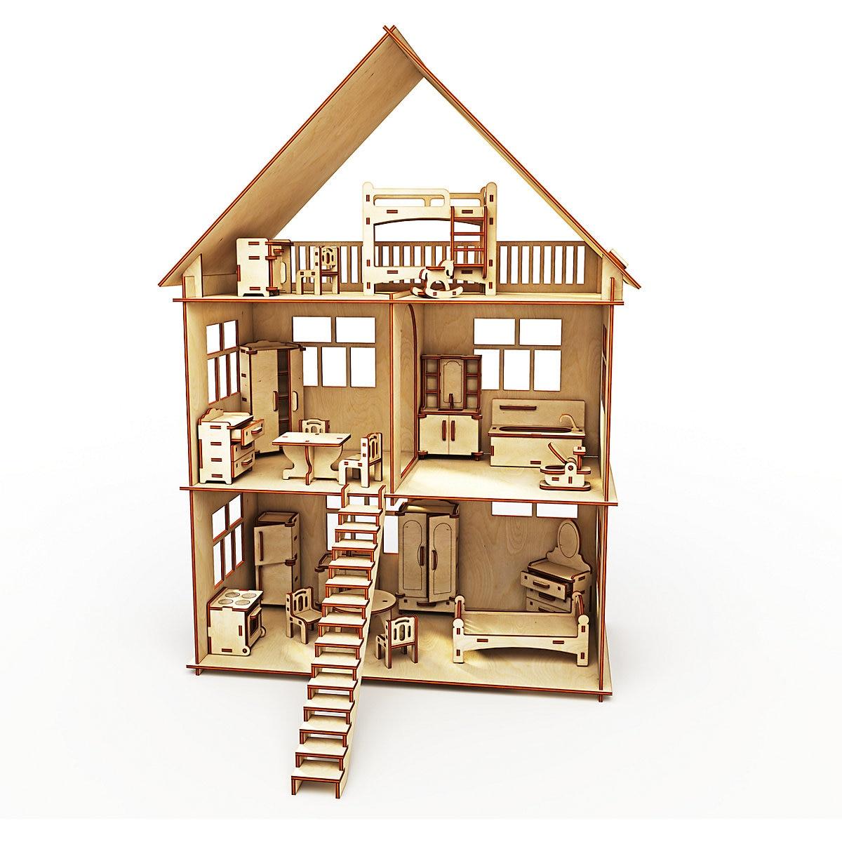HAPPYDOM blocs d'interconnexion 7338239 concepteur de jouets en bois pour enfants fille garçon jeu jouets