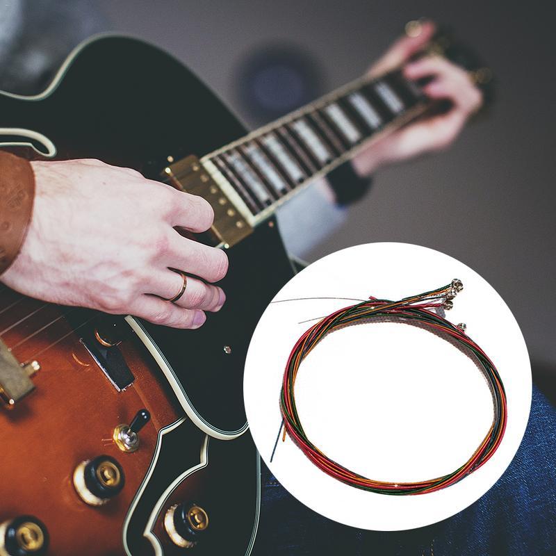 6pcs set wooden guitar strings acoustic guitar steel strings 6 folk songs in bulk strings steel. Black Bedroom Furniture Sets. Home Design Ideas