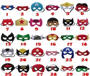 Image 1 - 20pcs/set Creative Cartoon Super Hero Masquerade Mask Childrens Day Party Supplies Christmas Wedding Decoration Birthday gift