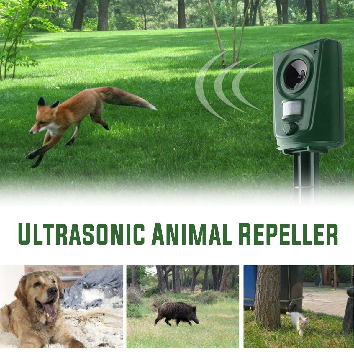 Repeller Dog-Deterrent Bird Garden-Supplies Ultrasonic-Animals Waterproof Mouse Outdoor-Use