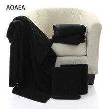 10 шт., хлопковое Европейское и американское домашнее полотенце, банное полотенце, полотенца для спа, не выцветает, черное,, розничная, полотенце s