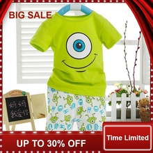 Kids Boys Cartoon Short Sleeved T-shirt and Trousers Outfits Aged 1-6Y