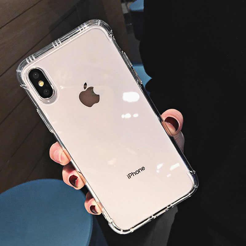Antiurto Trasparente Cassa Del Telefono per il iPhone Xr Xs Max X 6 6S 7 8 Più Molle di TPU Trasparente Del Telefono per il caso di iPhone Xr Xs Max 6 7 8 Più