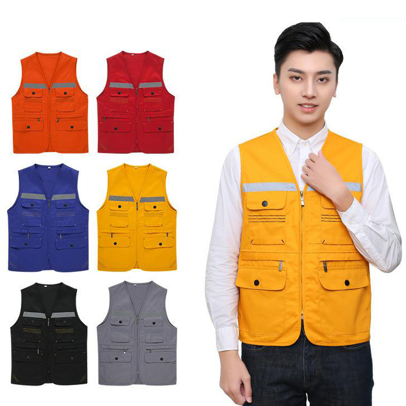Reflective Safety Warning Vest Working Clothes Reflectante Chaleco Day Night Protective Vest For Cycling Outdoor Traffic DFZ021