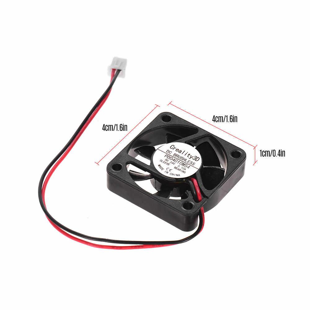 Criatividade 3D 4010 40 24 V DC Sem Escova Ventilador de Refrigeração * 40 * Conector 2Pin 10mm com Rolamento De Esferas para Ender 3 3D Mainboard de Impressora DIY