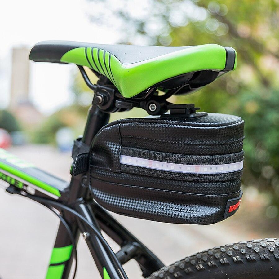 Vincita STASH Pack EVA Large Water-Resistant Quick Release Fixing Big Zippered Opening Bike Saddle Bag Cycling Seat Bag Portable Storage Bag for Bike Suitable for Road Bike Folding Bike Bicycle Bag