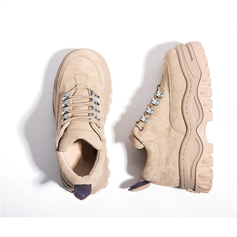 2018 New Hot Femmes Sneakers Lace Up Plate-Forme Chaussures Femme Femme Creepers Casual Plat Chaussures Tenis Feminino Espadrilles
