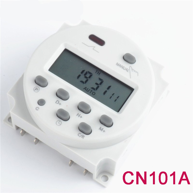 uxcell Cn101A LED Screen Digital Time Switch Progerammable Timer ...