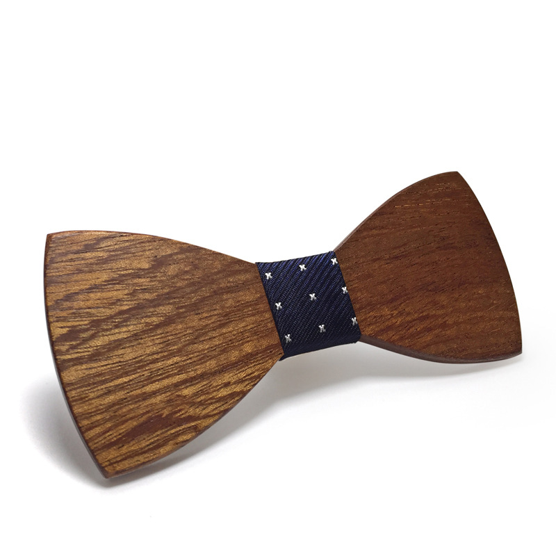Wooden Bow Tie Handmade Wood Man Accessories Retro Environmental Protection Hot Wooden Bow Tie Male Explosion Models