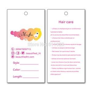Image 5 - משלוח חינם 500pcs הרבה מותאם אישית נייר לתלות תג/בגדים לתלות תג/בגד תיק מודפס תג מותג/שיער לתלות תג/תווית טיפול