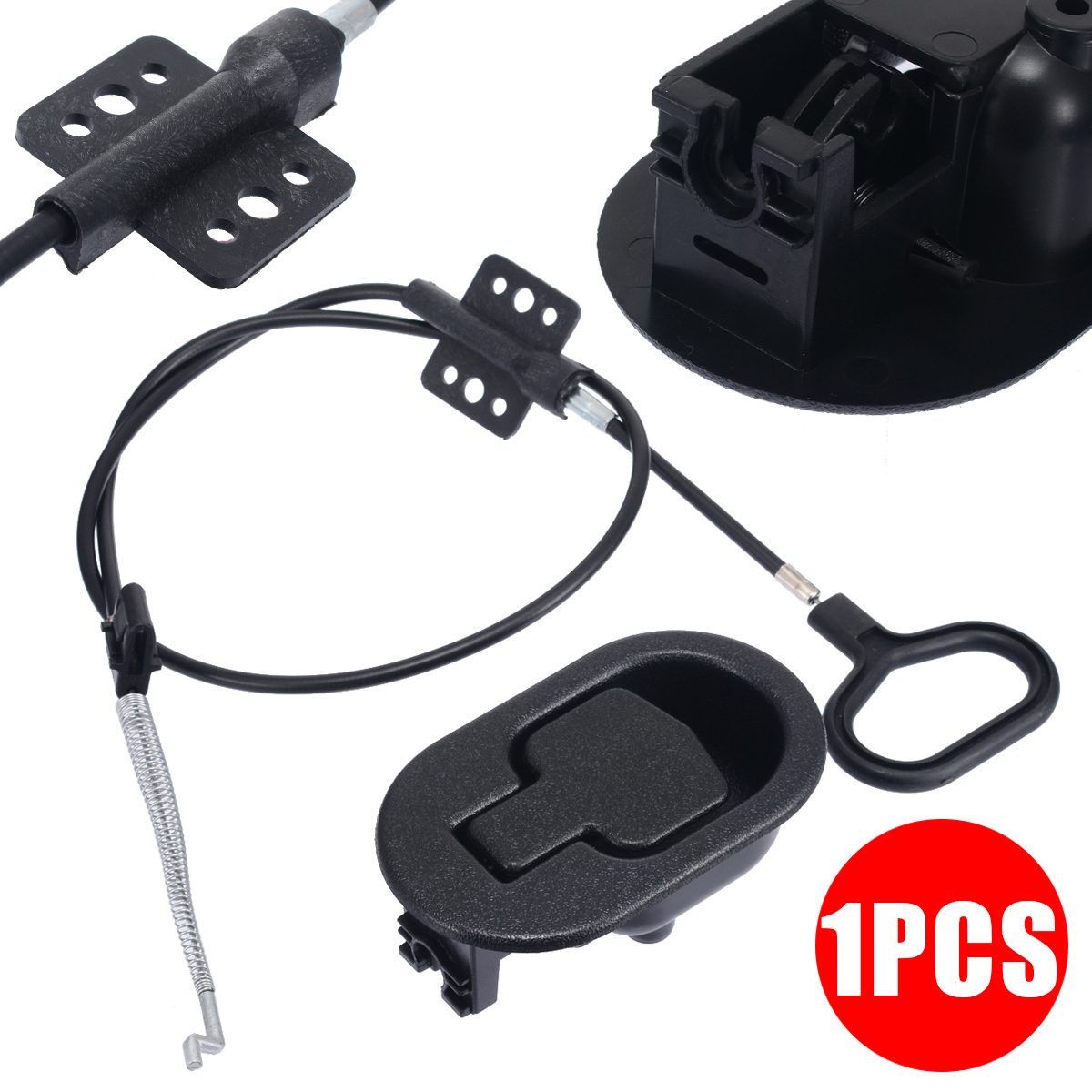 1set Black Sofa Chair Recliner Release Handle Pressure Bar Pull Cable Chair Metal + Switch Wire