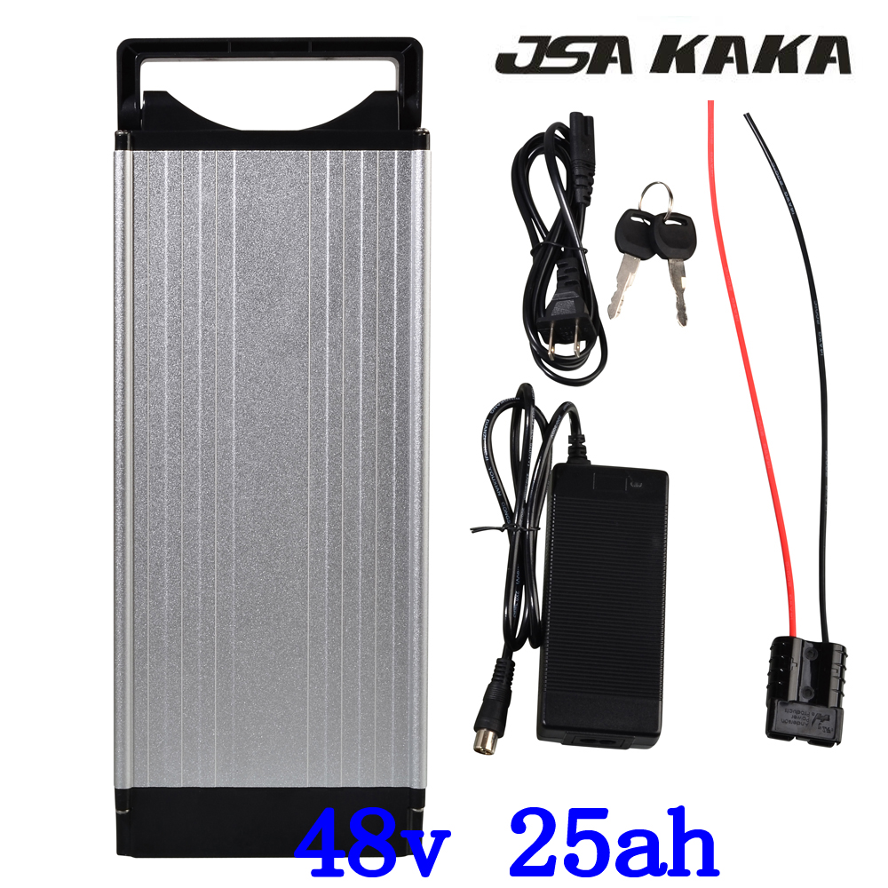 48V 25AH rear rack  lithium ebike battery 48V 25AH 1000W 1500W electric bike battery use samsung cell with Tail Light+charger48V 25AH rear rack  lithium ebike battery 48V 25AH 1000W 1500W electric bike battery use samsung cell with Tail Light+charger