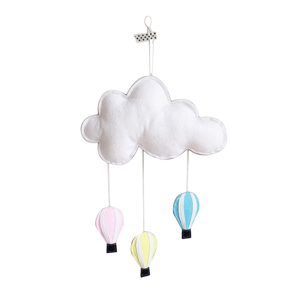 Us 4 98 33 Off 1pcs Children S Pendant Decorative Hanging Nordic Wind Cloud Hot Air Balloon Home Decor Felt Tent Tool Accessories In Ballons