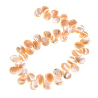 Natural Mother of Pearl Shell teardrops Spacer Loose Beads 10Pcs